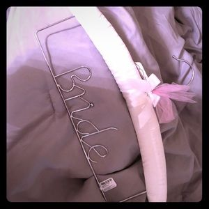 Bride hanger for wedding dress